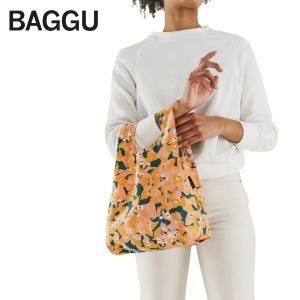 メール便 BABY BAGGU ベビー バッグ 【Blush Bougainvillea】ブーゲンビリア オレンジ 花 フラワー エコバッグ ナイロンバッグ ショッピングバッグ|delicious-y