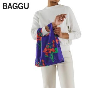 メール便 BABY BAGGU ベビー バッグ【Blue Sweeet Pea】スイートピー ブルー 花 フラワー エコバッグ ナイロンバッグ ショッピングバッグ トートバッグ ギフト|delicious-y