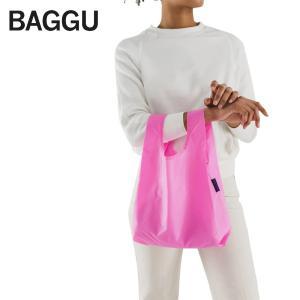 メール便 BABY BAGGU ベビー バッグ Bright Pink ピンク エコバッグ ナイロンバッグ ショッピングバッグ トートバッグ ギフト 景品 プレゼント|delicious-y