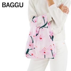 メール便 BABY BAGGU ベビー バッグ【Cherry Blossom】さくら 桜 sakura ピンク エコバッグ ナイロンバッグ ショッピングバッグ トートバッグ ギフト 景品|delicious-y