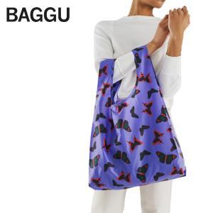メール便 BAGGU バッグ STANDARD スタンダード 【Butterfly】バタフライ パープル 蝶 紫 エコバッグ ナイロンバッグ ショッピングバッグ トートバッグ ギフト delicious-y