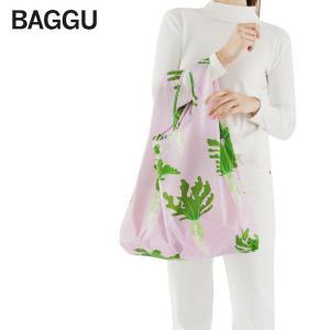 メール便 BAGGU バッグ STANDARD スタンダード【DAIKON】大根 ダイコン ピンク ホワイト グリーン エコバッグ ナイロンバッグ ショッピングバッグ トートバッグ|delicious-y