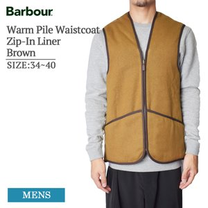 BARBOUR バブアー MLI0004BR31 Warm Pile Waistcoat Zip-In Liner Haghill Jacket Brown ジップインライナー メンズ アウター ライナー delicious-y
