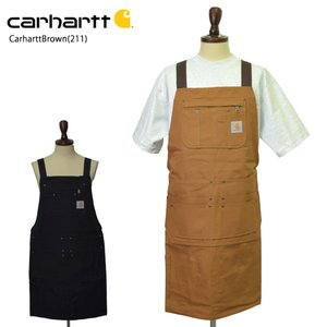 Carhartt カーハート 103439 Firm Hand Duck Apron  フィルムダックネイルエプロンツールエプロン ブラウン ブラック|delicious-y