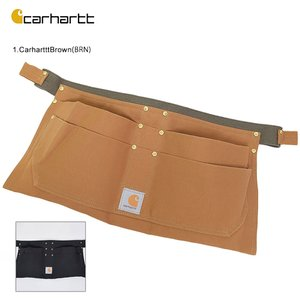 Carhartt カーハート A09 Duck NAil Apron ダックネイルエプロン メンズ 工具入れ ツールエプロン ガーデニング 美容師|delicious-y