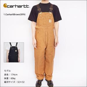 Carhartt カーハート【R01】Duck Bib Overalls Carhartt Brown Black ダックビブオーバーオールズ ブラウン メンズ オーバーオール ワークウェア サロペット|delicious-y