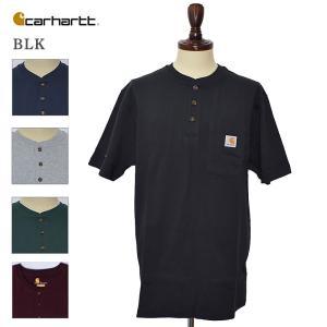 Carhartt カーハート K84 Wokwear Pocket SS Henley ワークウェアポケットショートスリーブヘンリーT メンズ 半袖Tシャツ |delicious-y