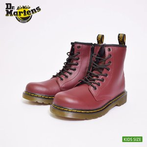 Dr.Martens KIDS ドクターマーチン キッズ R15382601 DELANEY J LACE BOOT CHERRY RED チェリーレッド キッズ 子供用ブーツ|delicious-y
