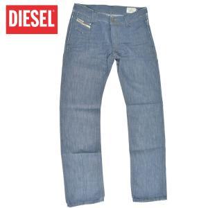 DIESEL ディーゼル  DEETAK 00ADSQ00-8GJ インディゴ メンズ ウォッシュド ストレート ジーンズ デニム パンツ|delicious-y