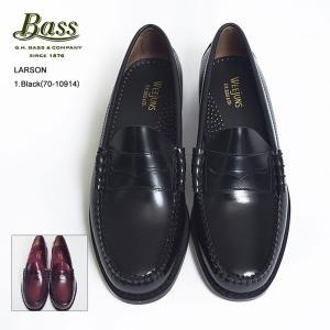 再入荷 G.H.BASS ジーエイチバス LARSON ラーソン 70-10914/70-10919 Black/Burgundy ローファー レザーシューズ メンズ 靴|delicious-y