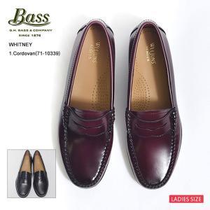 G.H.BASS ジーエイチバス WHITNEY ホイットニー 71-10334/71-10339 Black/Cordovan ローファー レザーシューズ レディース 靴|delicious-y