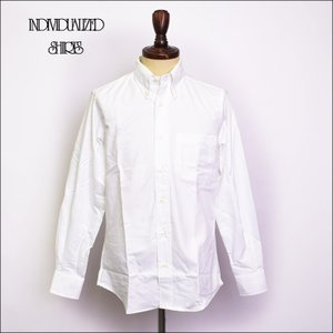 INDIVIDUALIZED SHIRTS インディビジュアライズドシャツ  D55WOO BASIC BUTTON DOWN  L/S SHIRTS CUSTOM FIT White Oxford メンズ 長袖 シャツ|delicious-y