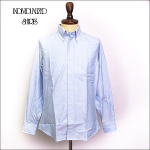 INDIVIDUALIZED SHIRTS インディビジュアライズドシャツ E16BOO BASIC BUTTON DOWN  L/S SHIRTS CUSTOM FIT Blue Oxford メンズ 長袖シャツ|delicious-y