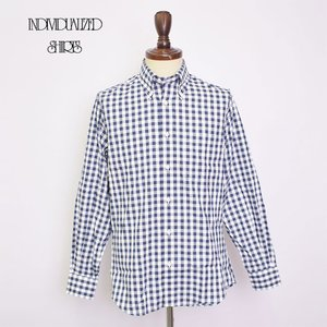 INDIVIDUALIZED SHIRTS インディビジュアライズドシャツ  A28NOP BASIC BUTTON DOWN  L/S SHIRTS CUSTOM FIT Navy Gingham メンズ 長袖シャツ|delicious-y