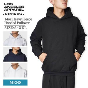 LOS ANGELES APPAREL ロサンゼルス アパレル LA APPAREL HF-09 14oz Heavy Fleece Hooded Pullover メンズ フーディー MADE IN USA|delicious-y
