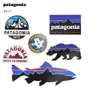 メール便  PATAGONIA  パタゴニア  アソートシール B ステッカー6枚セット シール ステッカー ベアー フィッシュ バード ロゴ 熊 魚 delicious-y