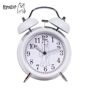 RIPN DIP リップンディップ RND01CLK FUCKING LATE CUSTOM ALARM CLOCK WHITE 時計 置時計 アラーム時計 ネコ 雑貨|delicious-y
