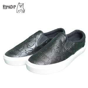 RIPNDIP リップンディップ RND-SLIPON SLIP ON SHOES BLACK OUT ネコ メンズ レディース 黒 スリッポン 靴|delicious-y