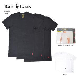POLO RALPH LAUREN FA'18 ポロ ラルフ ローレン RCCNP3 3 CREWS WHD/U5O/PBD/<BR>クルーTシャツ/メンズ/下着/Tシャツ/丸首/3枚セット/3色パック|delicious-y