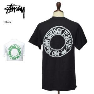 メール便 STUSSY ステューシー 1904340 Buana BLACK WHITE 半袖TEE 黒 白 Tシャツ メンズ|delicious-y