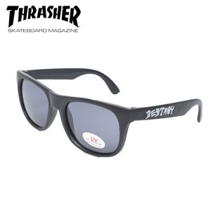 THRASHER スラッシャー SKATE AND DESTROY SUNGLASSES Black サングラス 眼鏡 UVカット|delicious-y