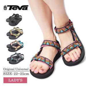 TEVA テバ 1003987 Original Universal BLACK オリジナル ユニバーサル ストラップ サンダル ビーチ フェス 野外 アウトドア 海 川 山 レディース 軽量 女性 delicious-y