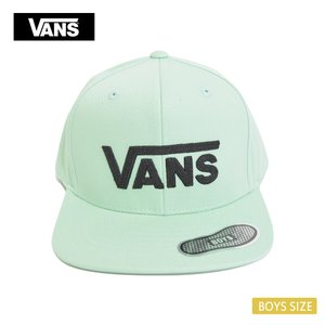 VANS APPAREL バンズ アパレル VN0A36OUV60 DROP V II SNAPBACK BOYS MIST GREEN ボーイズ キッズ キャップ 帽子|delicious-y