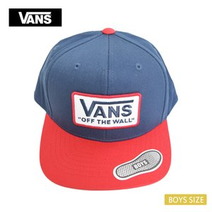 VANS APPAREL バンズ アパレル VN0A3I2OJCG WHITFORD SNAPBACK BOYS DRESS BLUES/RACING RED ボーイズ キッズ キャップ 帽子|delicious-y
