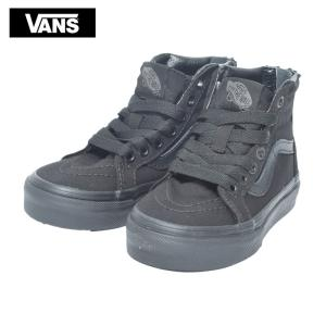 VANS KIDS バンズ キッズ VN000W9WIU6 SK8-HI ZIP Pop Check Black/Black スケートハイジップ ブラック 子供 靴|delicious-y