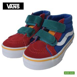 VANS KIDS バンズ キッズ VN0A346YVIK  スケートミッド リイッシューV マルチカラー 子供 靴 スニーカー|delicious-y