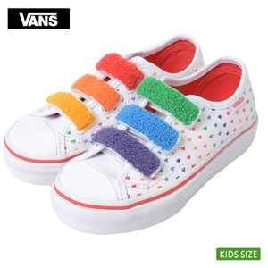 VANS KIDS バンズ キッズ VN0A3JFNWL1 STYLE 23 V Chenille Rainbow Heart True White スタイル レインボー 子供 靴|delicious-y