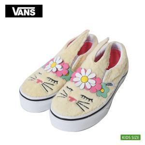 VANS KIDS バンズ キッズ VN0A3MVYVJ8 SLIP ON BUNNY スリッポン バニー うさぎ お花 子供 靴 スニーカー|delicious-y