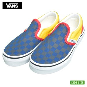 VANS KIDS バンズ キッズ VN0A4BUTV3D CLASSIC SLIP-ON (OTW Rally) Navy/Yellow/Red クラシックスリッポン ネイビー イエロー レッド 子供 靴|delicious-y