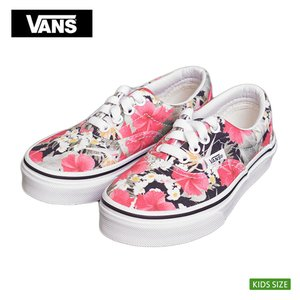 VANS KIDS バンズ キッズ VN-0YMAID6 ERA DIGI ALOHA BLACK/TRUE WHITE 花柄 子供 スニーカー|delicious-y
