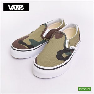 VANS KIDS FA'18 バンズ キッズ VN0A32QINRA CLASSIC SLIP-ON Woodland Camo Black/Woodland クラシックスリッポン  子供 スニーカー 靴|delicious-y