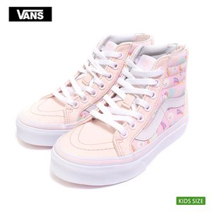 VANS KIDS バンズ キッズ VN0A3276U07 SK8-HI ZIP Glitter Pegasus Heavenly Pink/True White  グリッターペガサス 子供 スニーカー|delicious-y