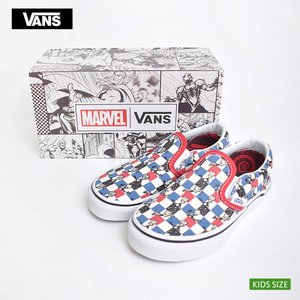 VANS KIDS バンズ キッズ VN0A32QIUE0 CLASSIC SLIP-ON Marvel Guardians/Multi Checker クラシックスリッポン 子供 スニーカー|delicious-y