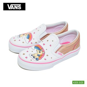 VANS KIDS バンズ キッズ VN0A32QIUGL SLIP ON スリッポン ユニコーン レインボー ピンク レモネード 子供 スニーカー|delicious-y