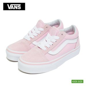VANS KIDS バンズ キッズ VN0A38HBQ7K オールドスクール スエード キャンバス 子供 スニーカー ピンク|delicious-y