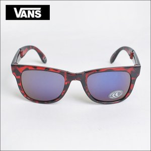 VANS APPAREL DEAD STOCK バンズ アパレル VN-0UNKG6F FOLDABLE SPICOLI SHADES H.RISK RED メンズ サングラス|delicious-y
