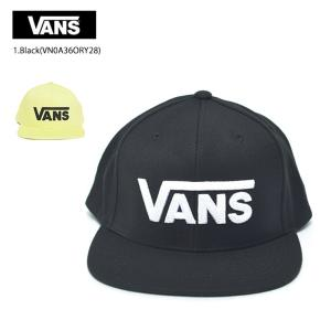 VANS バンズ VN0A36ORY28 DROP V II SNAPBACK ドロップV スナップバックキャップ ブラック ホワイト 定番|delicious-y