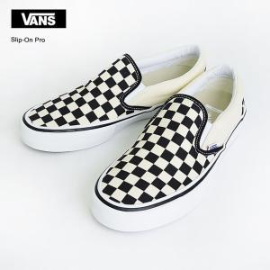 VANS MENS バンズ メンズ SLIP ON PRO VN0A347VAPK Checkerboard Black White スリッポン プロ メンズスニーカー 靴 delicious-y