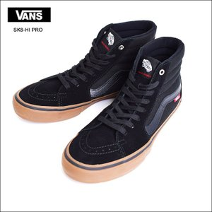 VANS MENS HO'17 バンズ メンズ SK8-HI PRO VN000VHGB9M Black/Gum スケートハイ プロ ブラック ガム メンズ スニーカー 靴 delicious-y