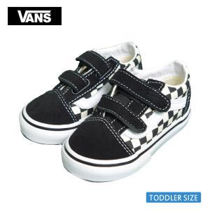 VANS TODDLER バンズ トドラー VN0A38JNP0S OLD SKOOL V Primary Check Black White オールドスクールV ブラック ホワイト チェッカー 幼児用スニーカー 靴 delicious-y
