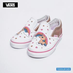 VANS バンズ トドラー VN000EX8UGL スリッポン ピンク ホワイト ユニコーン レインボー 幼児用スニーカー 靴|delicious-y