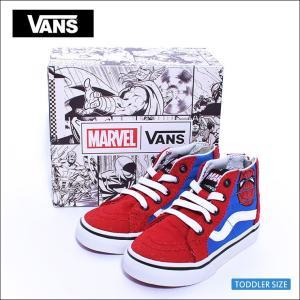 VANS TODDLER FA'18バンズ トドラー VN0A32R3U4ISK8-HI ZIPMarvel Spider-Man/True White スケートハイジップ アベンジャーズ スパイダーマン 幼児用スニーカー|delicious-y