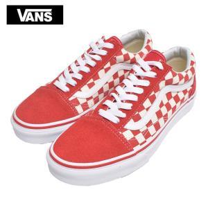 ワケあり-1555 VANS MENS バンズ ヴァンズ メンズ VN0A38G1P0T Old Skool オールドスクール Check Red レッド ホワイト チェッカーボード メンズ スニーカー 靴|delicious-y