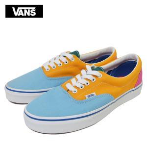 ワケあり-1634 VANS MENS バンズ ヴァンズ メンズ【VN0A38FRVOP】Era エラ (Canvas) Multi Bright 水色 オレンジ ピンク メンズ スニーカー 靴|delicious-y