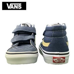 ワケあり-1586 VANS KIDS バンズ キッズ VN0A346YQ8D SK8 MID REISSUE V BLUE スケートハイ ミッドリイシューV ブルー 子供 靴 スニーカー|delicious-y