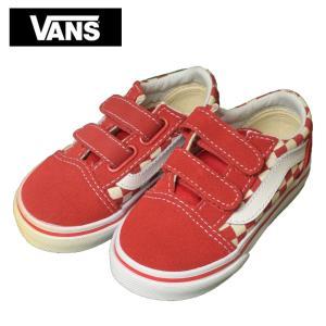 ワケあり-1259 VANS TODOLLER バンズ トドラー VN0A38JNP0T OLD SKOOL V オールドスクール ホワイト レッド 幼児用 靴|delicious-y